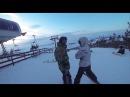 Поездка на горнолыжку Свияга и катание на сноуборде первый раз в жизни. Горные л ...