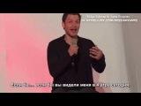 Джозеф Морган - Публичные мероприятия - Актёр  отвечает на вопрос о привлекательности  Bloody Night Con 7 (РУС СУБ)