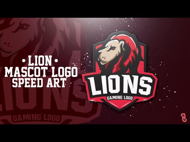 Adobe Illustrator SpeedArt - Lion Mascot Logo Design(E-Sports/Sports)