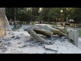 Вандалы разрушили памятник Ленину в Судаке