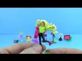 8 Киндер Сюрприз Барби 2016 - Barbie Sporty Gym-Barbie Super Hero Brunette - Barbie Girl Sunglasses