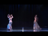 Zoe Jakes and Ashley Lopez perform bellydance with zills at The Massive Spectacu 5679