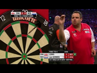England vs Netherlands (PDC World Cup of Darts 2017 / Semi Final)