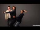 Дженсен, Джаред и Миша на фотосессии для EW SDCC 2017