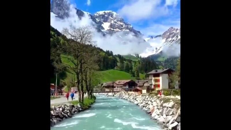 Переправа город engelberg, Швейцария!
