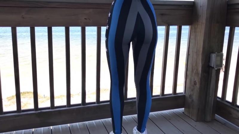 Thin Blue Line Flag Leggings