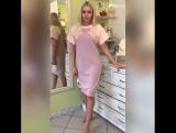 Платье трикотаж-лапша, в нежных оттенках с аппликацией ???