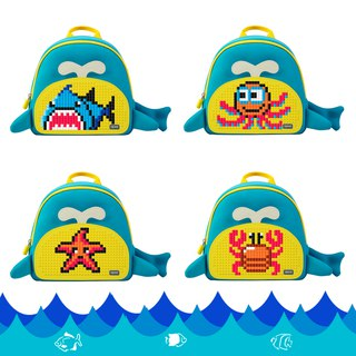 WY-A030 - Рюкзак Little Blue Whale (синий-жёлтый)