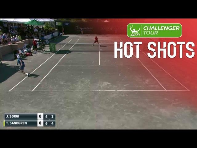 Sandgren Backhand Flick Hot Shot In Savannah 2017 Final