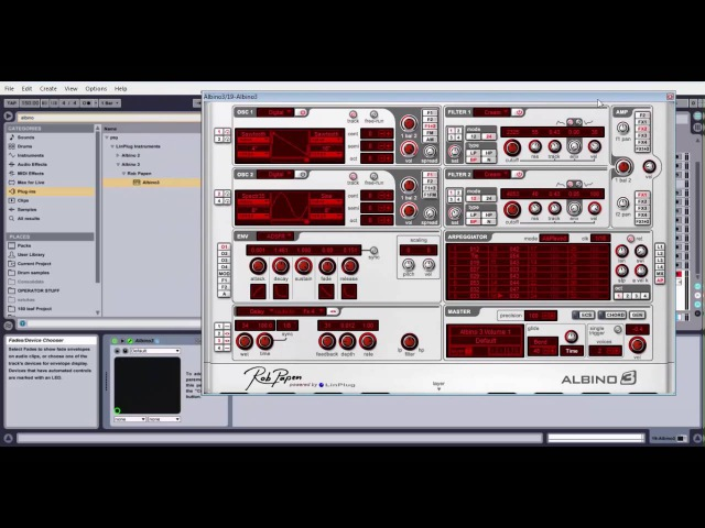 How to make squelchy arp for psy trance in albino 3
