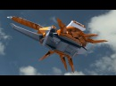 Power Rangers Samurai - Beetle Zord and Beetle Blast Megazord Debut Fight.