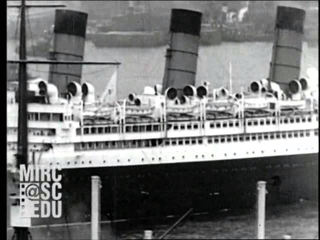 Sailing Day - RMS Aquitania (1930)