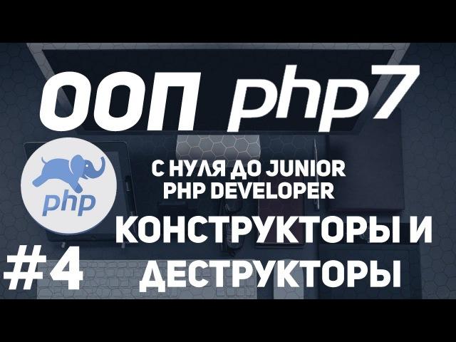 ООП для начинающих PHP Конструкторы и деструкторы Магические методы