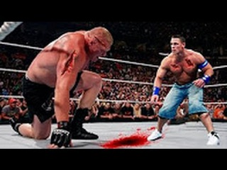 Bloodiest Match Ever - John Cena vs Brock Lesnar Extreme Rules Match - FULL Match HD