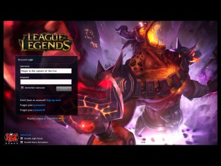 League of Legends Infernal Nasus Login screen+music