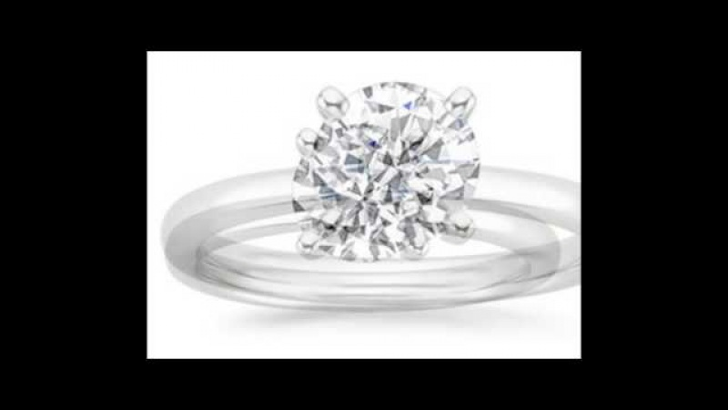 18K White Gold 4-Prong Round Cut Solitaire Diamond Engagement Ring (3 Carat E-F Color I1 Clarity)