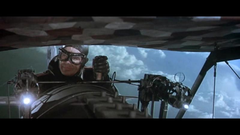 Голубой Макс (1966). Воздушный бой между немецкими и британскими самолетами