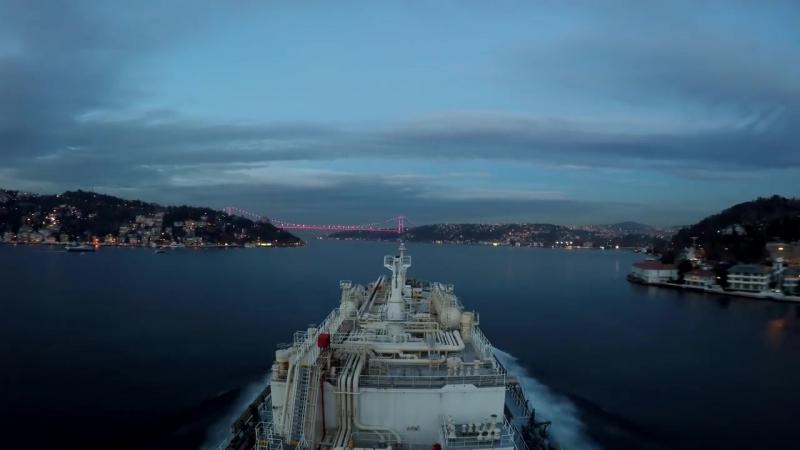 Istanbul - Bosporus Strait Time Lapse. Домой, Одесса ждёт!