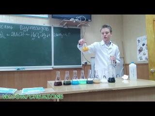 Химический опыт Десять гидроксидов