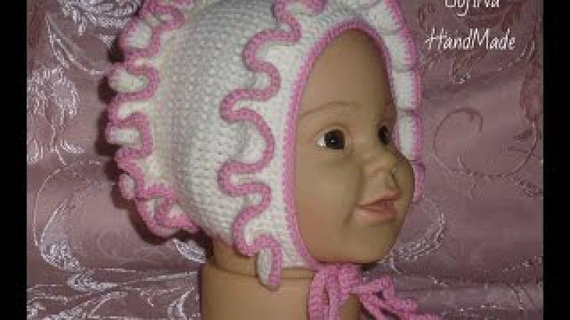 ЧЕПЧИК крючком/Вязание для начинающих/ Crochet Baby Hat