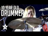 10 YEAR OLD GIRL DRUMMER Shows Judges Why She's The BEST! Got Talent Global