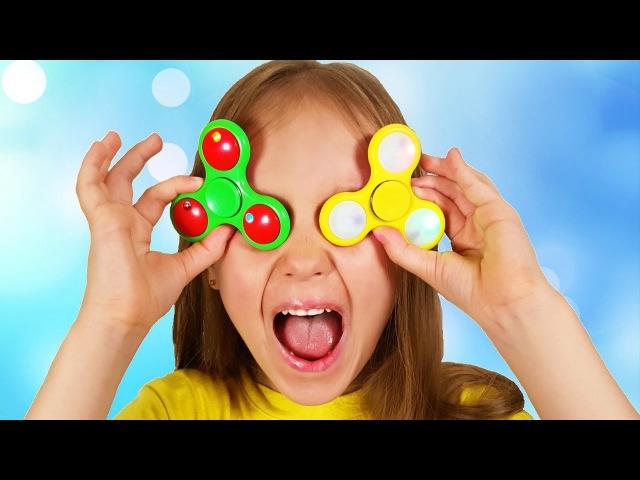 Fidget Spinner Challenge!! Спиннер Челлендж!! Family Fun Toys for Kids