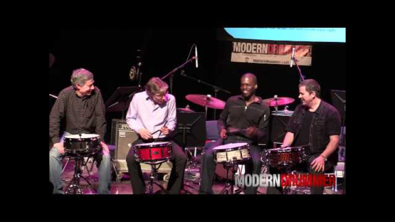 Brush Jam with Drummers Jim Rupp, John Riley, Greg Hutchinson, Russ Miller at Drum Daze 2014
