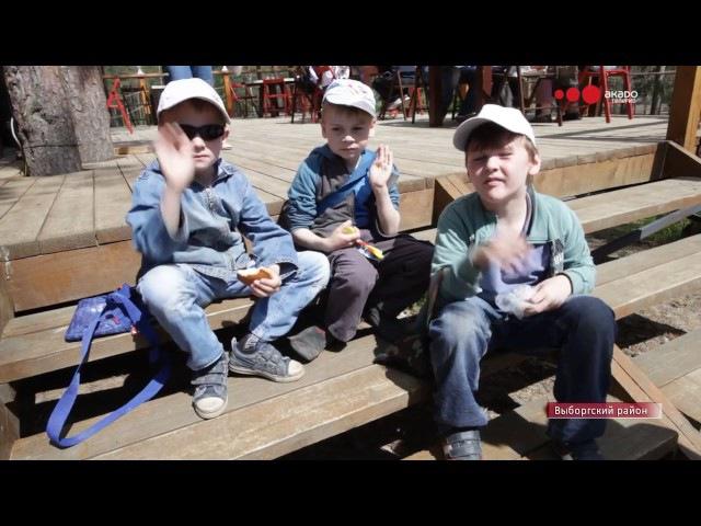 20 05 Жители Смольнинского посетили веревочный парк под Выборгом