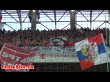 Суппорт фанатов Спартака на матче Спартак - Томь 1:0