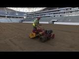 Стадион Волгоград-Арена. Сентябрь 2017. Посев газона Аэросъемка Волгоград