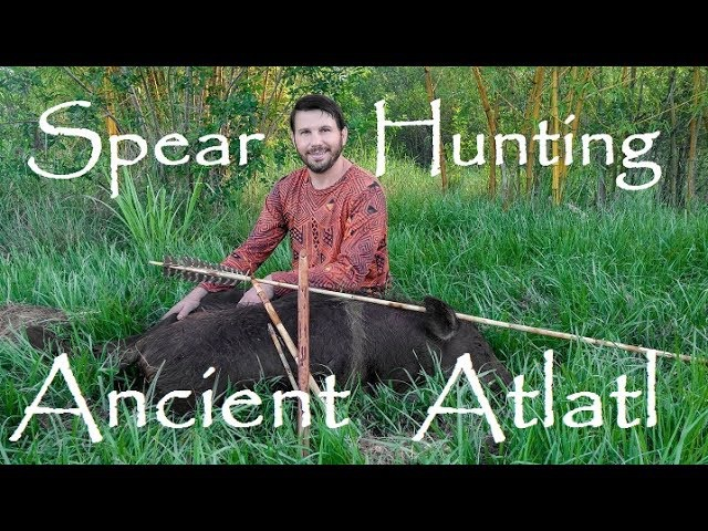 Epic Ancient Stone Age Spear Hunt for Wild Boar ATLATL in Action