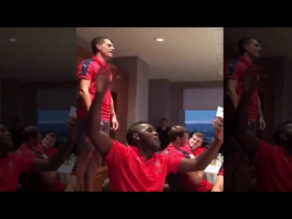 Granit Xhaka filmed singing his Arsenal initiation song; It's atrocious