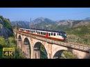 Railway line Belgrade - Bar. Trains in Montenegro