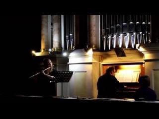 Sonata E-dur part 1 BWV 1035 J.S.Bach Елена Кучерова -флейта, Григорий Варшавский-орган