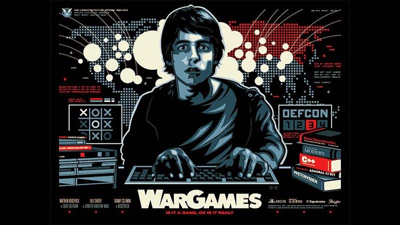 Wargames (1983) John Badham--Matthew Broderick, Ally Sheedy, John Wood