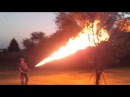 Real homemade backpack flamethrower