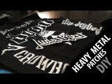 DIY How to make Heavy Metal patches! FAST and EASY!