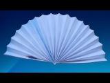 ВЕЕР. Оригами Своими Руками из Бумаги для Начинающих. Видео