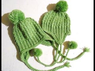 Вяжем спицами - шапочка с ушками . Часть 2