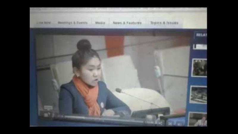Кыргыз кызы Айтурган ООНдо - Улуттук кыздар федерациясы NFFCK