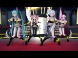 MMD 1740 The Idolismaster Girls Oh No DL1080P,60FPSRAY MMD