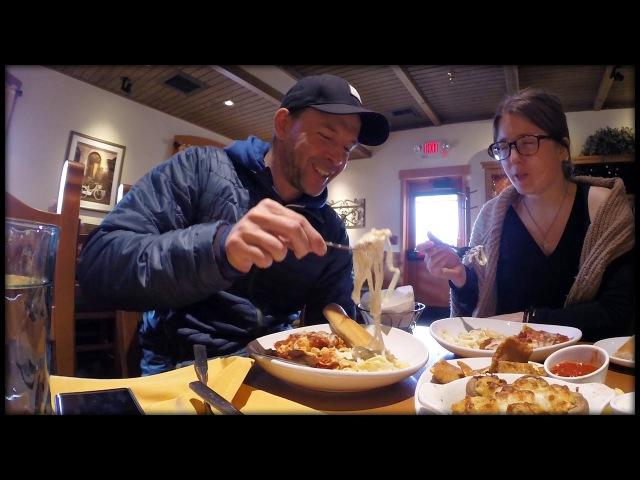 ВЛОГ Итальянский Сетевой Ресторан Olive Garden 2017 (Eugene Vlogs Kate)