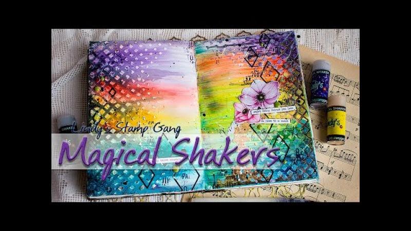 Тест Magical Shakers от Lindy's Создание разворота в артбук Artbook spread