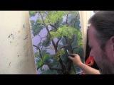 Пишем лесной мотив, научиться рисовать деревья, лес  Мастер класс  Художник Игор ...