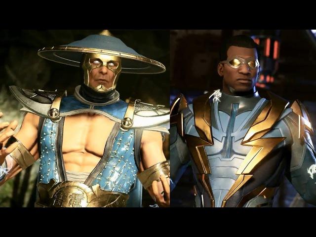 Injustice 2 - Trailer - DLC - Raiden (Mortal Kombat) Raio Negro (DC) - LEGENDADO PT-BR