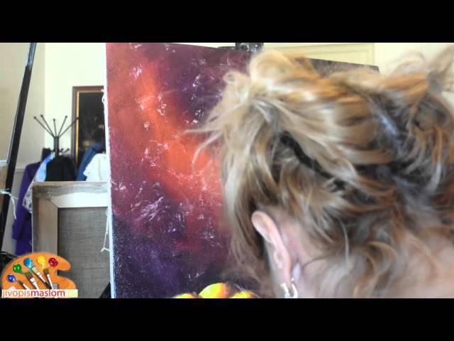 Часть 5. Создание текстуры заднего фона натюрморта. Ольга Базанова.