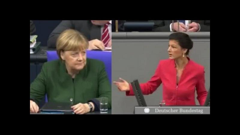 Sahra Wagenknecht rechnet mit wieder kandidierenden Kanzlerin ab 11 2016