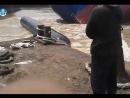 Неудачный спуск судна на воду