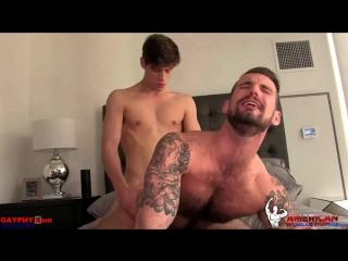 GAYпорно -  Chris Harder &  Michael DelRay American Muscle Hunks 18+