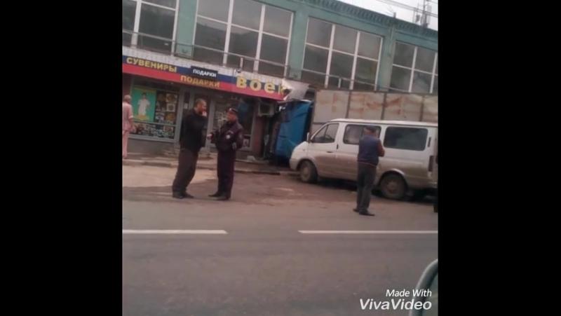 Авария,грузовик раздавил приору